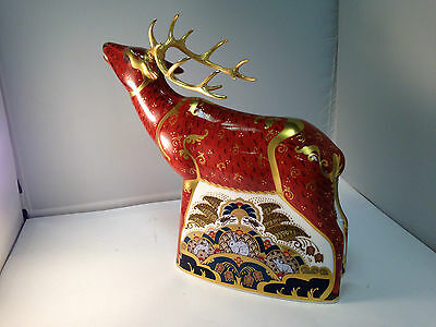royal crown derby paperweight  Sherwood Stag 1st quality limited edition
