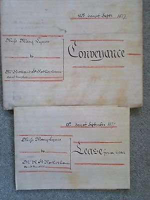 Vellum Conveyance And Lease Coventry 1827