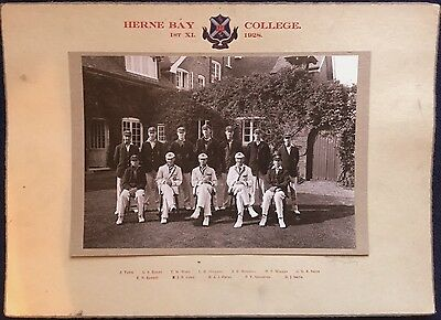 Herne Bay  Group   College Photo 0F 1St X 1928 All Named Pohto By Towers Studio