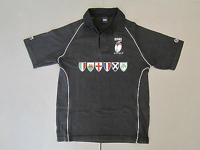 6 Nations Rugby Top - Black - Size S