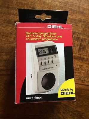 Diehl Electronic UK Plug In Timer 24 Hour/7 Day/ Random And Countdown Programme