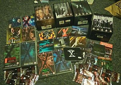 Collection of xfiles promo items videos collectors cards