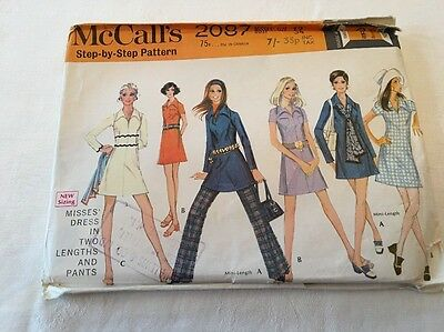 McCall's 2087 Vintage Sewing Pattern Ladies Dress And Pants Size 12
