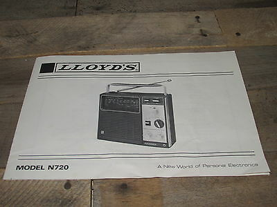 Owner's Manual - Lloyds Stereo Radio Player N720