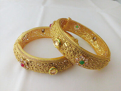 New Indian Fashion Jewelry Bangle bollywood ethnic gold plated traditional kadas
