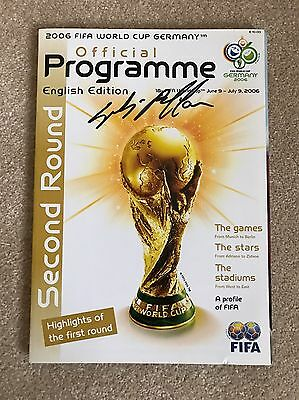 Signed 2006 World Cup Programme