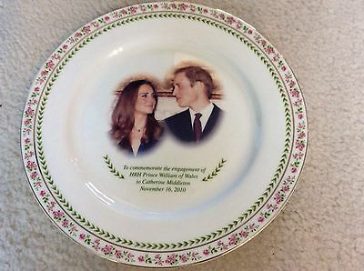 Royal Dalton Bone China plate engagement of William & Kate 2010 Collectable
