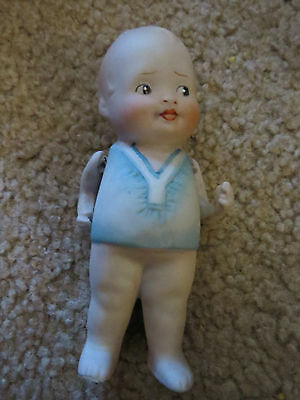 """Antique Baby Bud porcelain bisque 4 3/8"""" doll movable arms"""