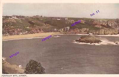 Channel Isles Portelet Bay Jersey 1950s Vintage Not Posted=BUILT UP SINCE THIS