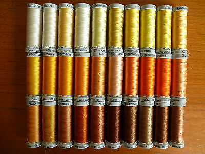 200m/220 yds Gutermann Dekor ~ 100% Viscose Embroidery Thread in Various Colours