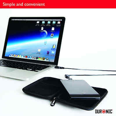 Duronic HDC2 Small Black EVA Case for External Portable Hard Drive - Suitable fo