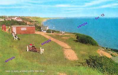 Dorset Highcliffe on Sea Vintage,Note Red Phone Box,Wonderful View of YESTERYEAR
