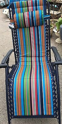 Comfy Sun Lounger Chair & Cushion  Multi Position Adjustable Folding Recliner