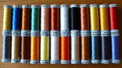 200m Gutermann SULKY Rayon 40 100% Viscose Embroidery Thread in Various Colours