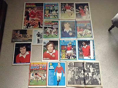 SHOOT Football Magazine Man United Player Posters,Law,Best,Charlton,Buchan