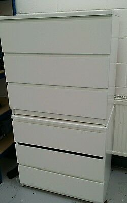 Ikea Chest Of Drawers White X2