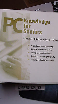 PC Knowledge for Seniors Guide / RingBinder / CDROM - Excellent Condition