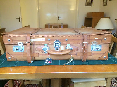 1980's Large Chinese Suitcase (may be leather)