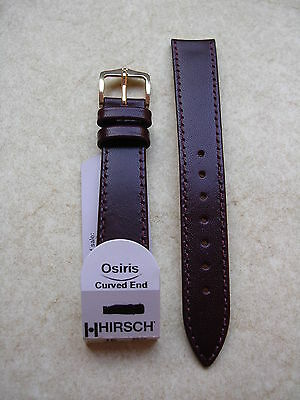 Hirsch Armband Osiris Curved End Marsala 16mm water resistant