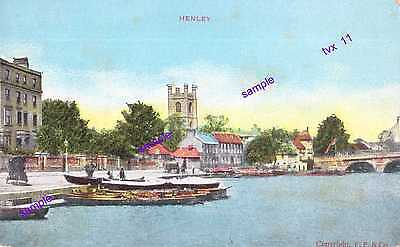 Henley River Thames Vintage Note Old Hire Row Boats,Wonderful Scene=HISTORY PIC