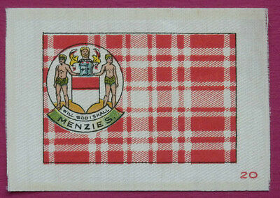 SINCLAIR Clan Tartan and Coat of Arms SILK card issued in 1922