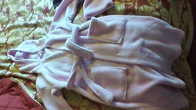 girls pale pink dressing gown, about age 8