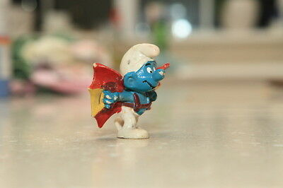 Vintage Winged Smurf Toy 1970s