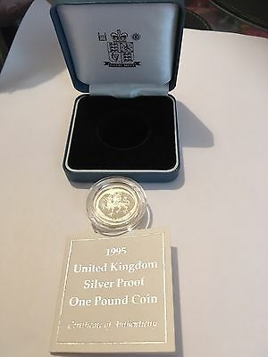 1995 UK Silver Proof One Pound Coin