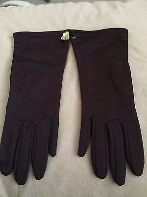 Ladies Vintage Dark Brown Gloves