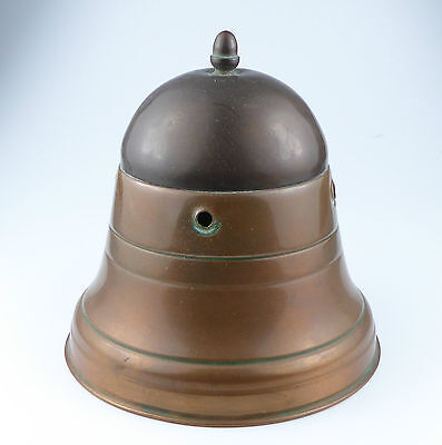 Vintage Copper & Brass Tea Caddy - Bell Shaped - Handle missing