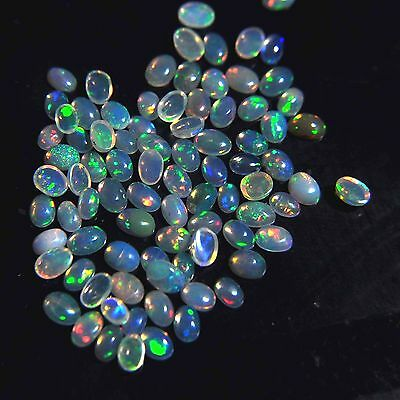 13.80 cts 100% NATURAL FREEFORM WELO ETHIOPIAN FIRE OPAL CABOCHON LOT GEMSTONE