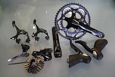Shimano 105 groupset 5700.10speed, double 175arm, 11-25sprocket.