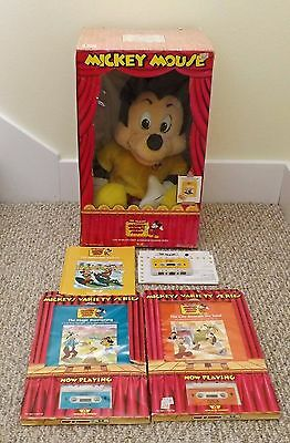 New In Box Nib 1986 Worlds Of Wonder Wow Talking Mickey Mouse +2 Book Tape Sets