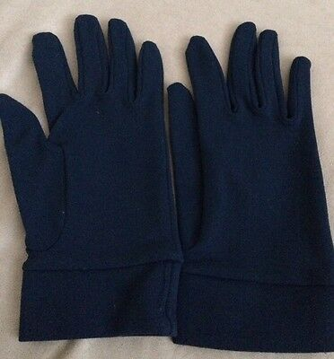 Ladies Vintage Navy Blue Gloves