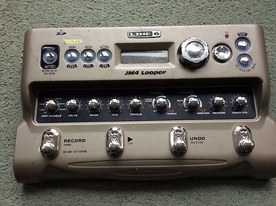 Line 6 JM-4 Looper with jamtracks effects and amp sims
