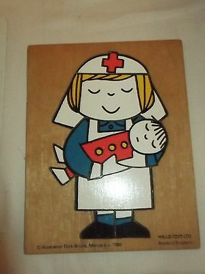 Willis Toys vintage wooden jigsaw puzzle