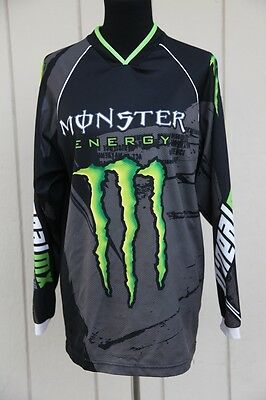 O'Neal Monster Energy Racing Jersey Size Large Motorcycle Dirt Bike MX Shirt