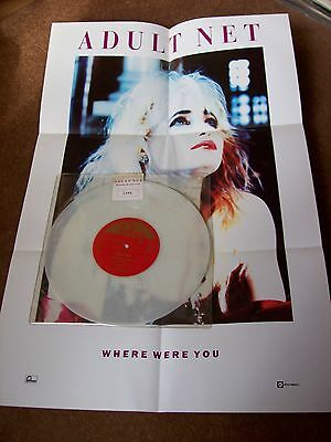 """Limited Edition 10"""" White Vinyl Record Single - Where Were You By The Adult Net"""