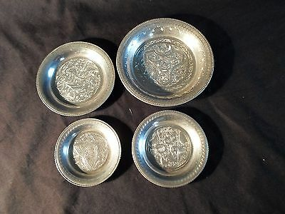 4 pre 1946 egyptian 900 silver dishes