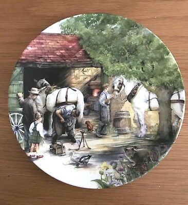 Boxed ROYAL DOULTON Plate BLACKSMITH OLD COUNTRY CRAFTS Susan Neale CHINA 1990