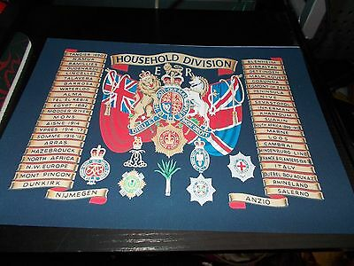 The Household Division Battle Honours A4 Print