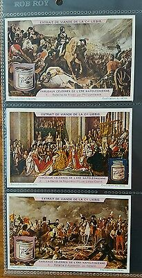 Liebig Set Of 6 Cards Famous Paintings Of Napoleon 1927
