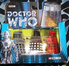 Corgi Metal Daleks Limited Edition no 5363 of 7500 (red, grey and Black)