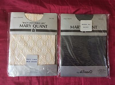 Vintage Mary Quant Fancy Stockings & Tights Original 1980's