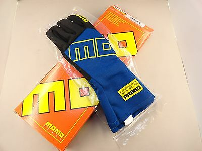 Momo Pro Racer Club Blue Racing Gloves Size 11