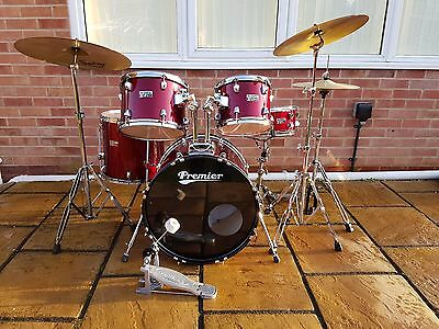 Premier Olympic Drum Kit with 3 cymbal pack