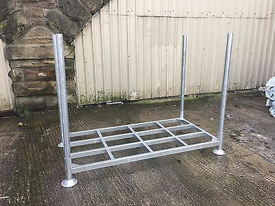 Large Galvanised Steel Stillages / Cages Post Pallet - Storage / Racking