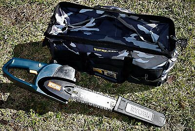 New Ryobi 18 Volt Battery Operated Chainsaw with New WorkZone Toolbag