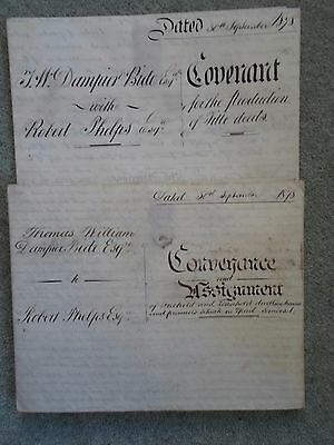 2 Vellum Documents 1878 Yeovil Somerset