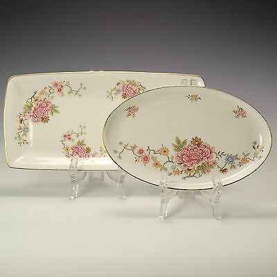 Royal Doulton Canton H5052 Sandwich Tray Dish & Oval Dish - Firsts